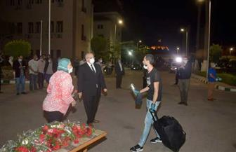 وصول 3 أفواج جديدة للمصريين العائدين من الكويت بمدينة طلاب جامعة القاهرة صور