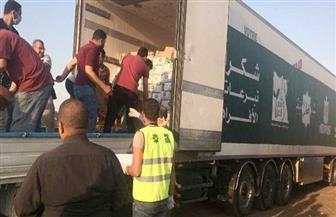 توزيع 8000 كرتونة مواد غذائية على الأسر الأولى بالرعاية ومصابي فيروس كورونا بالشرقية   صور