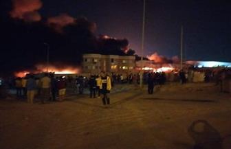 «الحماية المدنية» تسيطر على حريق بمصنع العبور |صور
