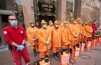 الهلال الأحمر يطهر ديوان وزارة التضامن الاجتماعي | صور