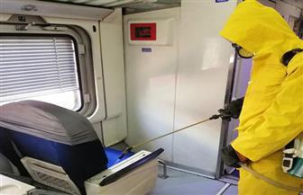 هيئة السكك الحديدية تواصل أعمال التطهير للمحطات والقطارات | صور