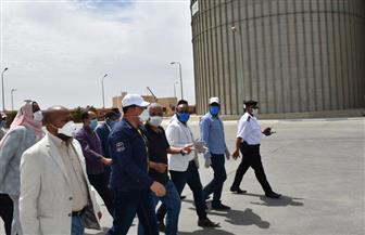 محافظ أسوان يتفقد مصنع السبائك الحديدية| صور