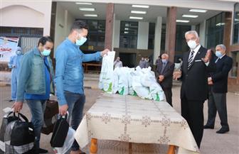 رئيس جامعة المنوفية يستقبل أول فوج من العالقين بالخارج بمدينة الأمل بشبين الكوم | صور