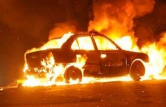 اشتعال النيران فى سيارة ملاكى أعلى الدائرى