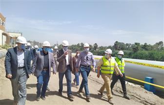 نائب وزير الإسكان يتفقد توسعات محطة مياه جزيرة الدهب لخدمة المناطق الساخنة بمحافظة الجيزة