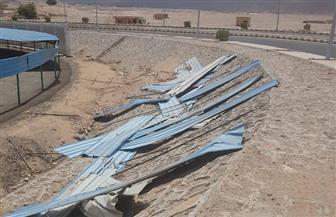 الوحدة المحلية بسفاجا تعالج الخسائر الناتجة عن العاصفة الترابية | صور