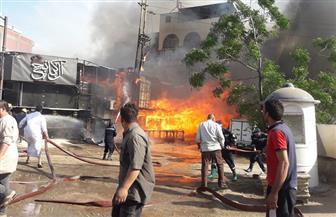 حريق بمطعم في كفرالزيات.. و«الحماية المدنية» تدفع بسيارات الإطفاء | صور