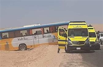 إصابة 30 شخصا في حادث أتوبيس بالطريق الصحراوي بالأقصر | صور