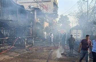 تفحم 8 سيارات واحتراق قاعات أفراح بالكامل ومطعم وشركة ديكور في حريق بكفر الزيات | صور