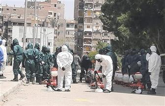إجراءات التعقيم لمواجهة انتشار فيروس كورونا بمستشفى الزهراء الجامعي | صور