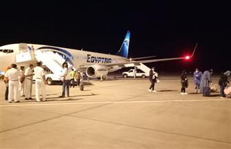 مطار مرسى علم يستقبل 152 مواطنا من المصريين العالقين في الكويت | صور