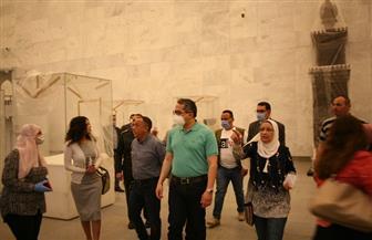 وزير السياحة والآثار يتفقد المتحف القومي للحضارة بالفسطاط| صور