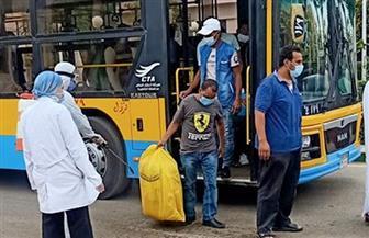 وصول 3 أفواج من العائدين من الكويت إلى جامعة القاهرة لقضاء فترة الحجر الصحي