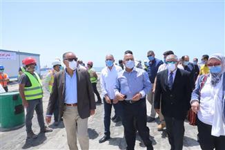 وزير النقل يتابع معدلات إنشاء المحطة متعددة الأغراض بميناء الإسكندرية بتكلفة 6 مليارات جنيه| صور