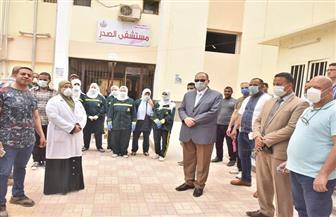 محافظ أسيوط يتفقد مبنى القومسيون الطبي العام ومستشفى الصدر | صور