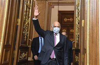 """رئيس البرلمان يمزح مع وكيل المجلس قائلا: """"أنت مش خايف على نفسك"""""""