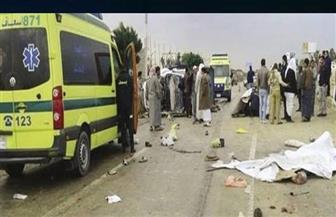 مصرع شخصين وإصابة 7 آخرين في حادث تصادم سيارتين بطريق شرم الشيخ