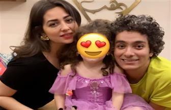 محمد محسن يحتفل بعيد ميلاده مع هبة مجدي وابنتهما
