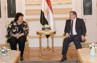 وزيرا الثقافة والإعلام يلتقيان لبحث مسارات التعاون بين الوزارتين