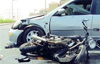 مصرع شخص وإصابة ابنته في حادث تصادم سيارة بدراجة نارية في بورسعيد