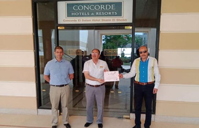 كونكورد السلام  بشرم الشيخ يحصل على شهادة اعتماد لتشغيل الفندق من وزارة السياحة -
