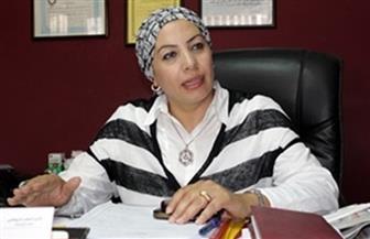 سحر عبدالحق تتابع مباراة وادي دجلة والأميرية بدوري الكرة النسائية