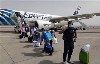 مطار مرسى علم يستقبل رحلة استثنائية للعالقين بالسعودية تقل 298 مواطنًا| صور