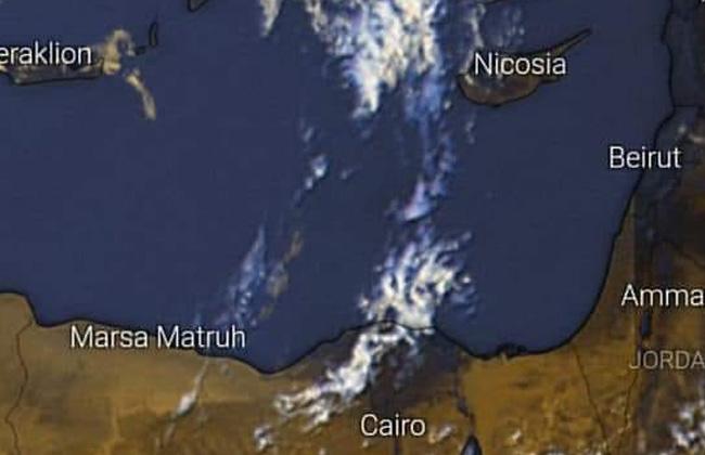 الأرصاد : تكاثر السحب وأمطار على جنوب سيناء والصحراء الشرقية -