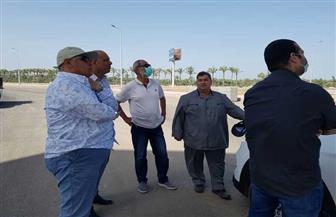 رئيس جهاز دمياط الجديدة يتفقد أعمال رفع كفاءة المدخل الغربي للمدينة
