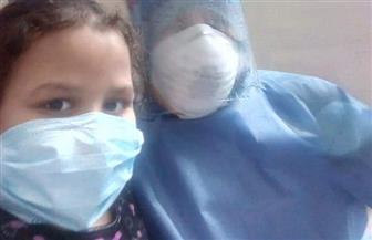 رغم إصابتها بسرطان الدم.. طفلة تتغلب على كورونا وتغادر العزل الصحي بطنطا   صور