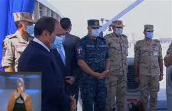 الرئيس السيسي يتفقد وحدة سكنية بمشروع بشائر الخير ٣ بالإسكندرية