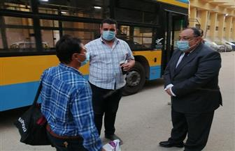 رئيس جامعة حلوان يستقبل الفوج الأول للعائدين من الخارج بالمدينة الجامعية بالمطرية| صور