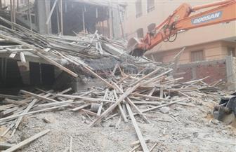 إزالة فورية لمبنى مخالف بقطعة أرض سبق سحبها بمدينة الشروق