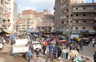 فض سوقين شعبيين غرب الإسكندرية لمواجهة كورونا