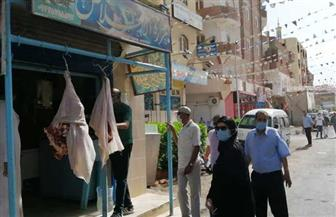 رئيس مدينة سفاجا تترأس لجنة لمتابعة المحلات التجارية والمجزر والأسواق | صور