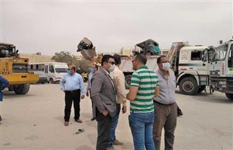 رئيس جهاز مدينة 6 أكتوبر يقود حملة لإزالة التعديات ورفع الإشغالات | صور