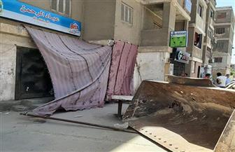 جهاز مدينة ١٥ مايو يشن حملة مكبرة لإزالة مخالفات البناء والتعديات على الأرصفة