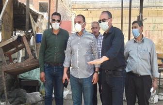 سكرتير عام محافظة الغربية يتفقد أعمال تطوير منطقة السويقة بقطور