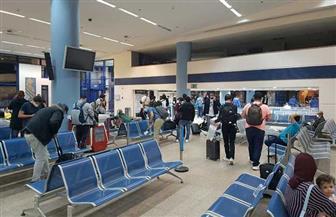 مطار مرسى علم يستقبل رحلة استثنائية تقل 76 من المصريين العالقين في فرانكفورت | صور