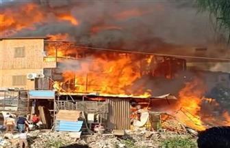"""إصابة 7 مواطنين في حريق بمعرض """"سيراميك"""" ومنزل بالحامول في كفر الشيخ   صور"""
