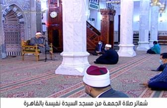 بعد توقف 9 أسابيع.. إقامة شعائر صلاة الجمعة في مسجد السيدة نفيسة | صور