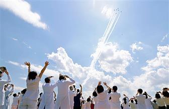 طائرات يابانية تحلق فوق طوكيو لتحية الأطقم الطبية