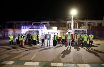 توزيع شنط رمضان على العمالة غير المنتظمة بـ 11 قرية بالوادي الجديد| صور