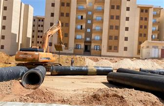رئيس جهاز ٦ أكتوبر الجديدة: جار الانتهاء من تنفيذ طبقة الأسفلت لعمارات الإسكان الاجتماعى فى الـ ٨٠٠ فدان|صور