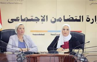 وزيرتا التضامن والبيئة تناقشان مشاكل العاملين في جمع وتدوير المخلفات |صور