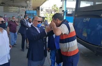محافظ القاهرة يتفقد موقف عبدالمنعم رياض لمتابعة تطبيق الإجراءات الاحترازية