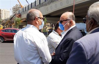 محافظ القاهرة يتابع أعمال التطوير أسفل كوبري الميرغني وردم نفق العروبة | صور