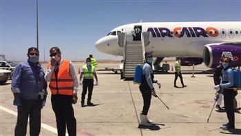وصول 341 من المصريين العالقين في جدة على متن رحلتين إلى مطار مرسى علم | صور وفيديو