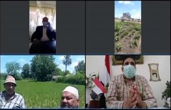 مديرية الزراعة بدمياط تتواصل مع المزارعين في الحقول عبر تقنية فيديوكونفرانس| صور