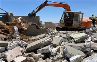 إزالة 14 منزلا مخالفا على 1702 متر مربع من أملاك الدولة جنوب بورسعيد |صور